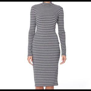 NWOT CATHERINE MALANDRINO Kristiana Stripe Dress